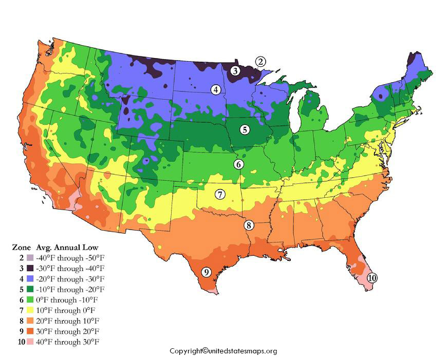 America Climate Map