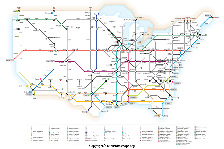 Interstate Map of US
