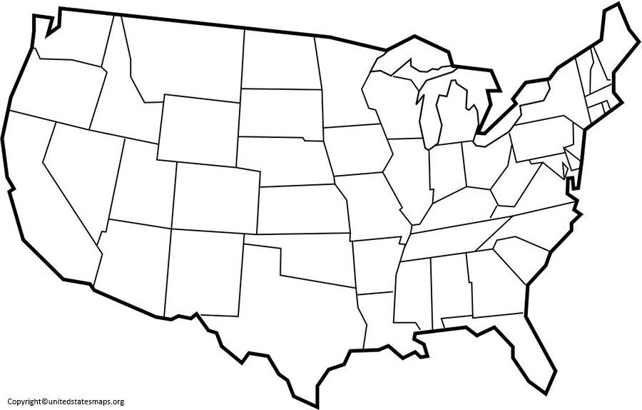 Blank US Map Outline